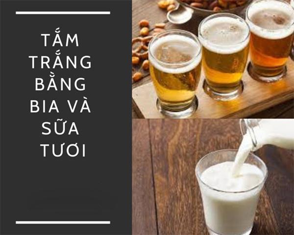 bia và sữa