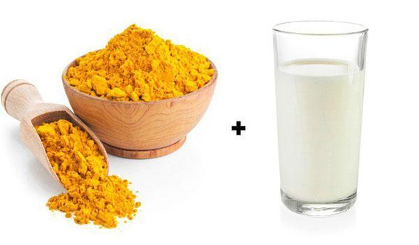 nghệ và sữa tươi