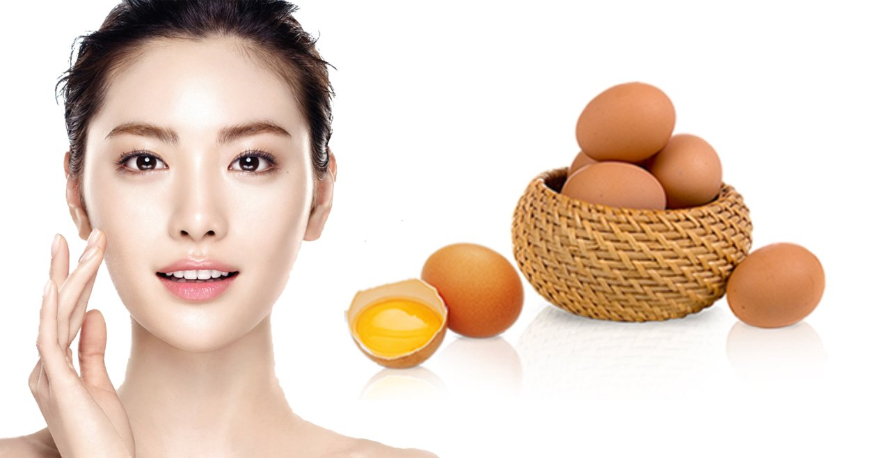 Tác dụng của mặt nạ trứng gà trắng da