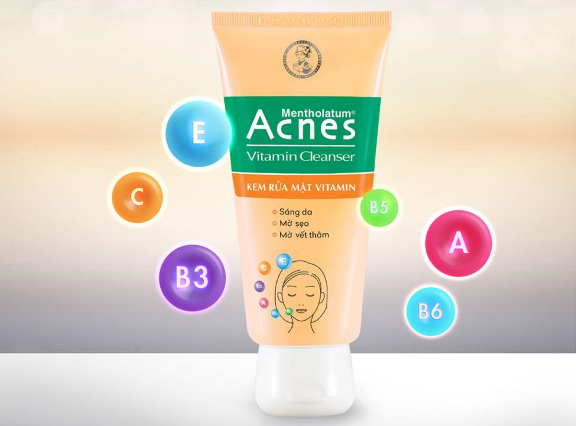 Sữa rửa mặt nghệ Acnes Vitamin Cleanser
