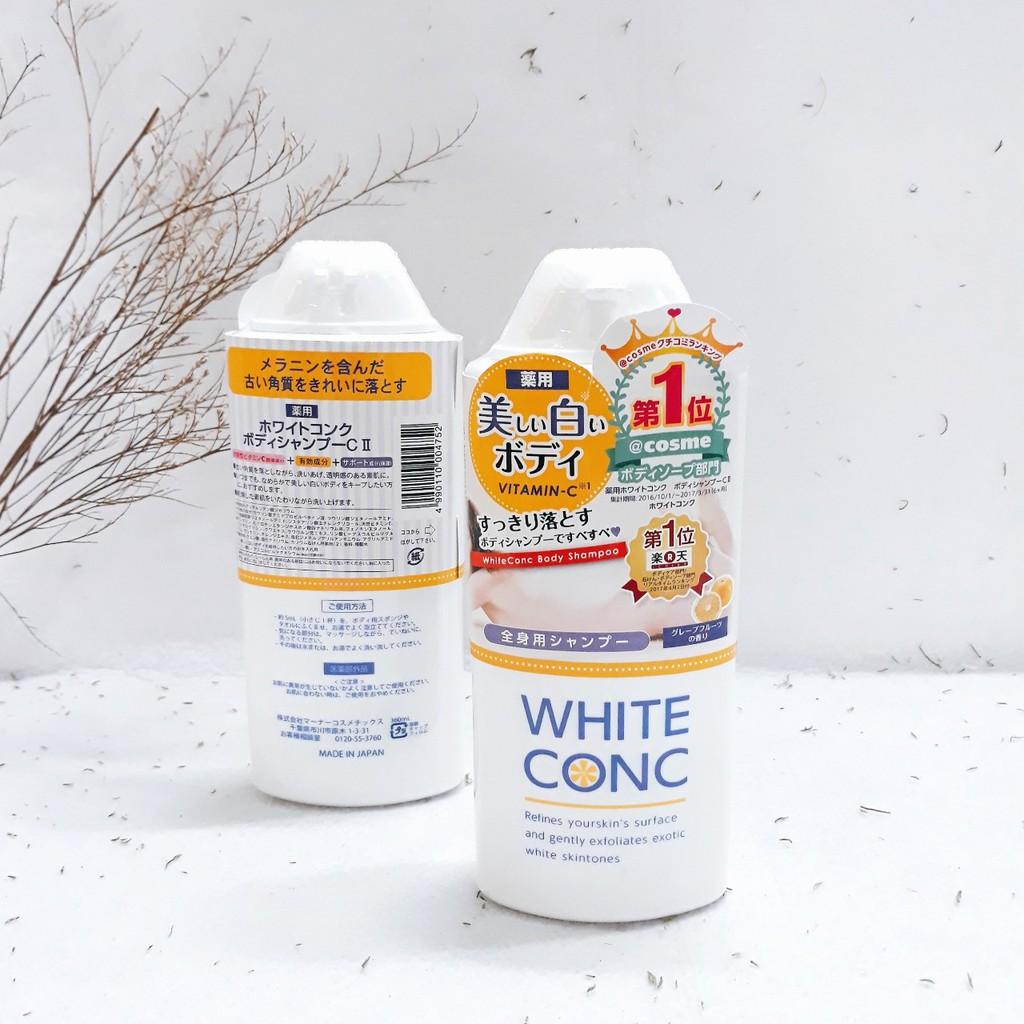 Sữa tắm trắng da hằng ngày White Conc Nhật Bản